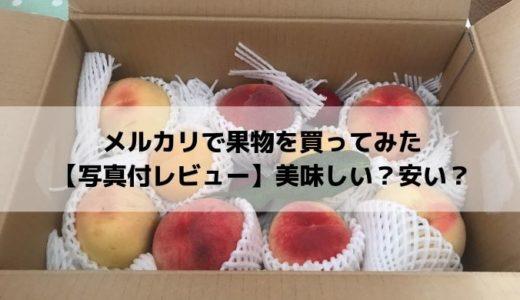 メルカリで果物を買ってみた【写真付レビュー】美味しい?安い?